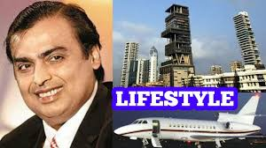 mukesh ambani luxury house car private jet plane income