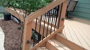 plain design deck handrail tasty deckscom deck stair handrails