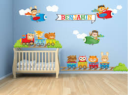 kids bedroom wall decals nursery wall decals animal train