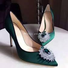 Wedding Shoes 2017 Green Pumps Heels Women Wedding Shoes 2017 Silk Bridal Shoes For