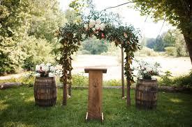 wedding arch greenery wooden wedding arch with greenery