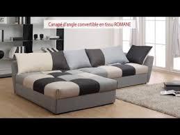 canape d angles convertible canapé d angle convertible en tissu romane