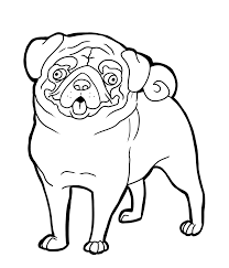 pug dog coloring pages coloring home