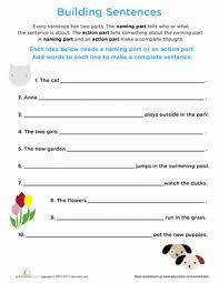 writing sentences worksheet worksheets