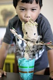 i am groot u2013 kid craft with toilet paper rolls and brown paper