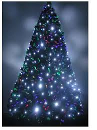 fiber optic christmas decorations 7ft fiber optic christmas tree pre lit