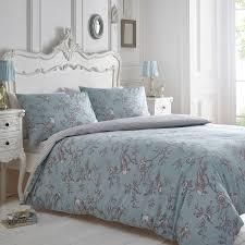 home collection blue and grey u0027curious bird u0027 bedding set double