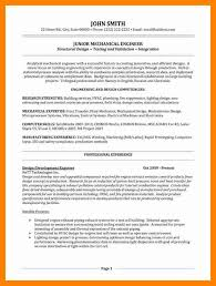 Structural Design Engineer Resume 9 Mechanical Engineer Resume Example Letter Signature