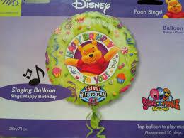 singing birthday balloons fast ship winnie the pooh birthday sing a tune balloons jumbo