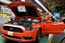 ford mustang assembly plant tour 2015 ford mustang rolls the line at flat rock