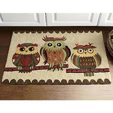Owl Kitchen Rugs Blue Who S There Owl Doormat Doormat Mohawks And Front Porches