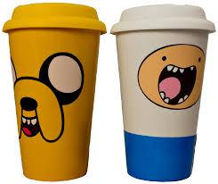 Ceramic Coffee Mugs Adventure Time Ceramic Coffee Mug With Lid Set Of 2 Jake U0026 Finn