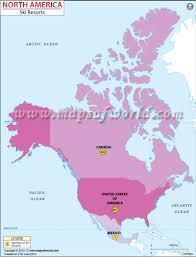 North America On Map by North America Ski Resorts Map Ski Resorts In North America