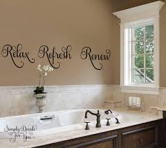 relax bathroom bubbles en suite wall art sticker quote decal