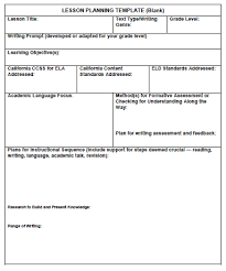 Weekly Lesson Plan Template Common by 2 1 1 A Framework For Planning Writing Lessons Ccss Ela