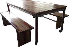 Industrial Bench Seat Rustic Industrial Table And Bench Seats Urban Furniture And