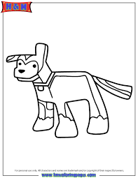 minecraft cartoon dog coloring page h u0026 m coloring pages