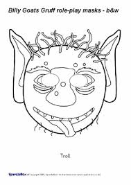 goat mask coloring page free printable colour in role play masks sparklebox