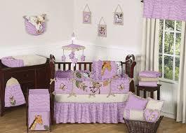 purple cheetah print jungle animal safari theme baby bedding crib