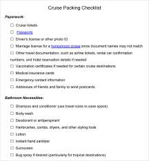 Bathroom Necessities Checklist Packing Checklist Template 15 Download Free Documents In Pdf