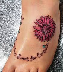 Flower Tattoo Designs On Feet - 50 latest daisy tattoos ideas