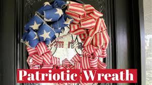 halloween burlap wreath patriotic wreath 4th of july wreath burlap wreath youtube