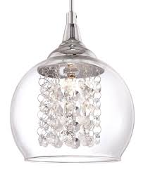 crystal mini pendant light fixture and possini euro encircled wide