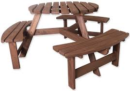 round table woodside rd woodside 6 seater round pressure treated bench furniture outdoor