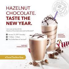 taste the new year with cbtl u0027s hazelnut chocolate for free on