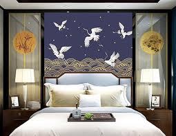 chambre style japonais décoration interieur chambre d hôtel papier peint japonais grue