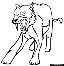prehistoric mammals coloring pages 1