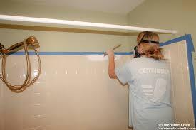 Bathtub Reglaze Kit Remodelaholic How To Update A Tile Shower U0026 Tub In A Weekend