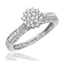 10k wedding ring 1 carat trio wedding ring set 10k white gold
