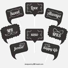photo booth great photo booth signs with different messages vector free