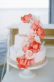 best 25 coral wedding cakes ideas on green big - Coral Wedding Cakes