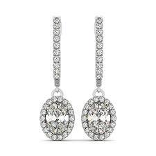 Long Chandelier Earrings Dangle Earrings Diamond Earrings Stud Hoops Chandelier Earrings From Italy