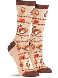thanksgiving socks gobble gobble turkey non skid socks womens socks holidays and woman