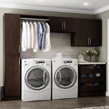 Discount Laundry Room Cabinets Modifi Horizon 105 In W White Laundry Cabinet Kit Enl105 Hpw