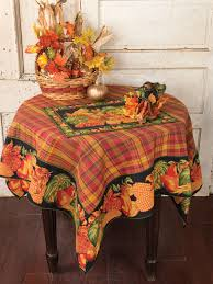 harvest tablecloth black attic sale linens kitchen attic