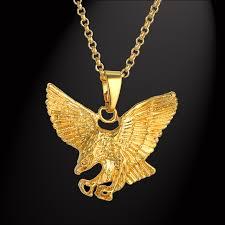 long necklace chain wholesale images Punk eagle necklaces pendants mens gold chain wholesale colares jpg