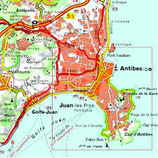 Antibes France Map by Michelin Zoom France French Riviera Esterel Map 115 Maps Zoom