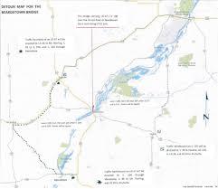 Illinois On Us Map by Beardstown Bridge