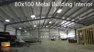 80x100 metal building update interior tour metal buildings