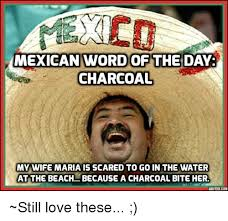 I Love My Wife Meme - mexican word of the day charcoal my wife maria is scared to go in