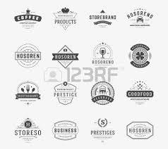vintage logos design templates set vector design elements logo