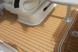 boat floor replacement composite material synthetic teak pvc