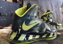 amac custom nike lebron x atomic by amac customs