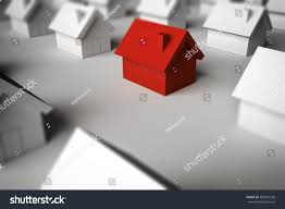 3d rendering finding home sale stock illustration 483341230