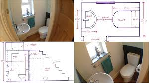 size of toilet good looking minimum size toilet for under the stairs could be yours
