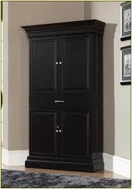 Corner Cabinet Black Bathroom Glass Door Corner Linen Cabinet In White For Bathroom